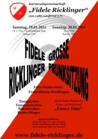 Fidele Ricklinger: Gro�e Prunksitzungen 2011