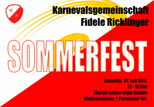 Fidele Ricklinger: Einladung zum Sommerfest 2012