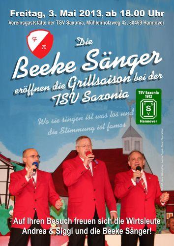 Die Beeke Sänger eröffnen die Grillsaison bei der TSV Saxonia