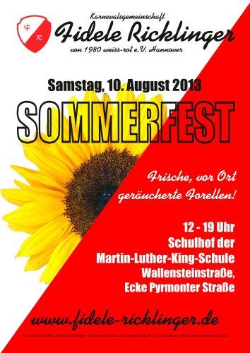 Die Fidelen Ricklinger feiern ihr Sommerfest