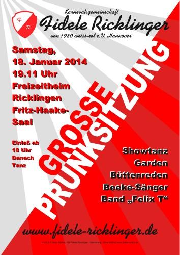 Grosse Prunksitzung 2014 der Fidelen Ricklinger