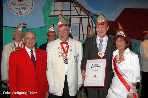 Angela G�nther, Stefan Schostok, J�rgen Scheele, Heinz N�thel (v.r.)