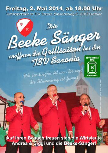 Eröffnung der Grillsaison bei der TSV Saxonia mit den Beeke-Sängern