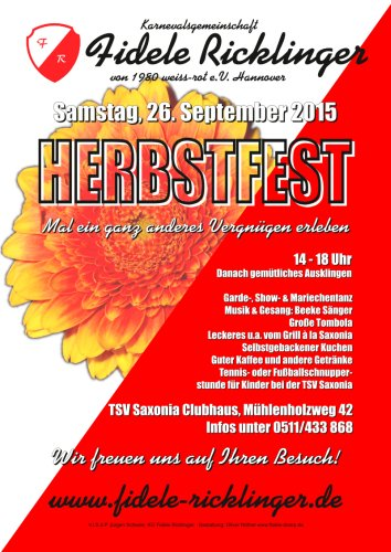 Herbstfest der Fidelen Ricklinger am 26.09.2015