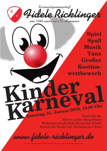 Kinderkarneval der Fidelen Ricklinger am 31.01.2016