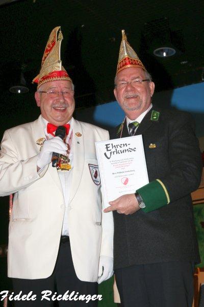 Wilhelm Lindenberg ist neuer Ehrensenator