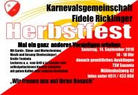 Herbstfest der Fidelen Ricklinger am 14.09.2019