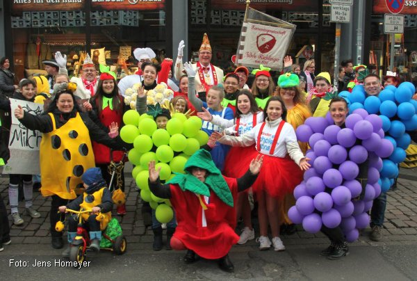 Die Fidelen Ricklinger beim großen Karnevalsumzug in Hannover (Foto: jens Homeyer)